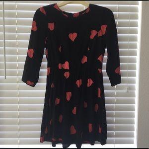 TOPSHOP HEART DRESS SZ 6